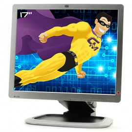 """Ecran PC 17"""" HP L1750 HSTND-2331-A GF904A 447868-001 448302-001 TFT VGA DVI USB"""
