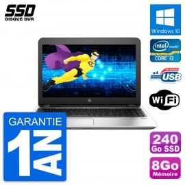 PC Portable 15.6'' HP ProBook 450 G4 Intel Core i3-7100U RAM 8Go SSD 240Go W10