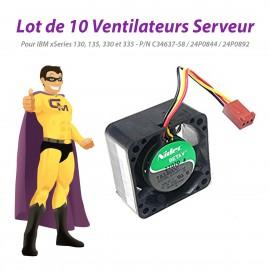 Lot x10 Ventilateurs IBM xSeries 130 135 330 335 NIDEC C34637-58 24P0844 24P0892