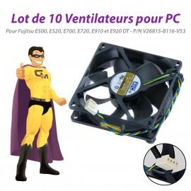 Lot x10 Ventilateurs PC Fujitsu E500 E520 E700 E720 E910 E920 DT V26815-B116-V53