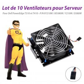 Lot x10 Ventilateurs Serveur Dell T310 T410 0Y210M 0D380M Y210M D380M PowerEdge