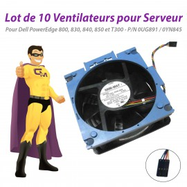 Lot x10 Ventilateurs Serveur Dell 800 830 840 850 T300 0UG891 0YN845 PowerEdge
