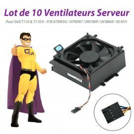 Lot x10 Ventilateurs Dell T110 II 07XM3G 07RKN7 0N790P 0CN869 0C4FJ1 PowerEdge