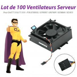 Lot x100 Ventilateurs Dell T110 II 07XM3G 07RKN7 0N790P 0CN869 0C4FJ1 PowerEdge