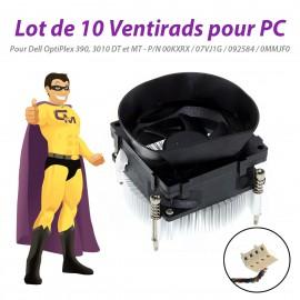 Lot x10 Ventirads CPU Dell OptiPlex 390 3010 DT MT 00KXRX 07VJ1G 092584 0MMJF0