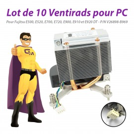 Lot x10 Ventirads PC Fujitsu E500 E520 E700 E720 E900 E910 E920 DT V26898-B969
