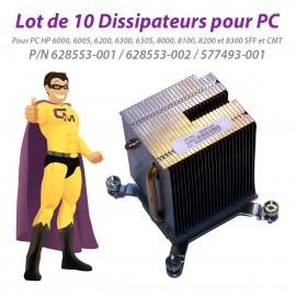 Lot x10 Dissipateurs HP 6300 8200 8300 SFF CMT 628553-001 628553-002 577493-001