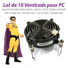 Lot x10 Ventirads HP 712960-001 625257-001 727142-001 643907-001 8300 Z230 MT