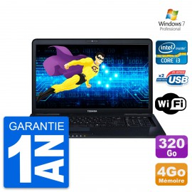 PC Portable 17.3'' Toshiba satellite pro l670 Intel i3-m370 RAM 4Go HDD 320Go W7