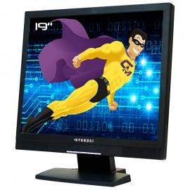 """Ecran Plat PC 19"""" Hyundai T91D L19D00000 5:4 VGA DVI VESA 1280x1024 TFT TN LED"""