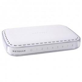 Switch NETGEAR GS608 NGR-GS608v3 8 Ports RJ-45 10/100/1000Mbps Gigabit LAN