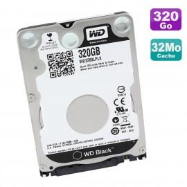 """Disque Dur 320Go SATA 2.5"""" WD Black WD3200LPLX-60ZNTT1 HP 792087-002 02.01A02"""