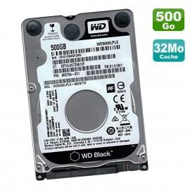 """Disque Dur 500Go SATA 2.5"""" WD Black WD5000LPLX-66ZNTT0 HP 805754-001 01.01A01"""