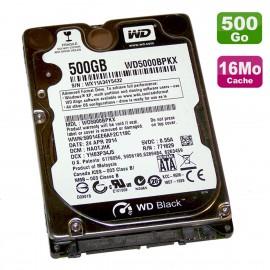"""Disque Dur 500Go SATA III 2.5"""" WD Black WD5000BPKX-00HPJT0 6Gbps 7200RPM 16Mo"""