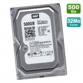 "Disque Dur 500Go SATA 3.5"" Western Digital Blue WD5000AZLX-00JKKA0 7200RPM 32Mo"