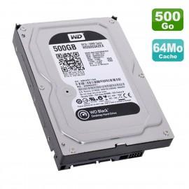 """Disque Dur 500Go SATA 3.5"""" Western Digital Black WD5003AZEX-00MK2A0 7200RPM 64Mo"""