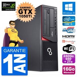 PC Fujitsu E920 DT Gaming GTX 1050Ti i5-4570 RAM 16Go 240Go SSD + 2To W10