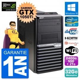 PC Acer M4630G Gaming GTX 1050 Ti i7-4790 RAM 32Go 240Go SSD + 2To Windows 10