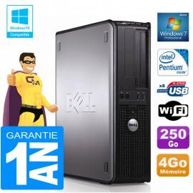 PC DELL 380 DT Intel E5300 Ram 4Go Disque 250 Go Graveur DVD Wifi W7