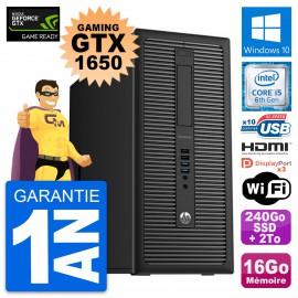 PC Tour HP 800 G2 Gaming GTX 1650 i5-6500 RAM 16Go 240Go SSD + 2To Windows 10
