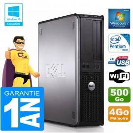 PC DELL 380 DT Intel E5300 Ram 4Go Disque 500 Go Graveur DVD Wifi W7