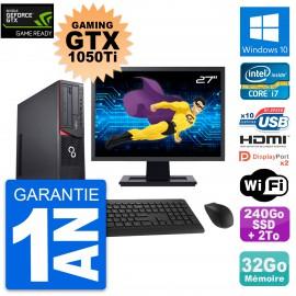 PC Fujitsu E920 DT Gaming GTX 1050Ti i7-4790 RAM 32Go 240Go SSD + 2To W10