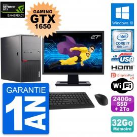 """PC Tour Lenovo M900 27"""" Gaming GTX 1650 i7-6700 RAM 32Go 240Go SSD + 2To W10"""