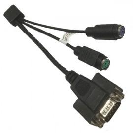 Câble Adaptateur Dell 0KG2HH KG2HH Micro Serie / DB-9 RS-232 Mâle + PS/2 Femelle