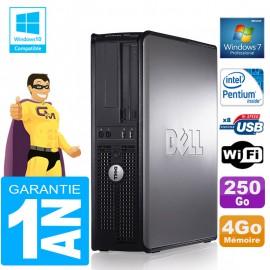 PC DELL 780 DT Intel E5300 Ram 4Go Disque 250 Go Graveur DVD Wifi W7