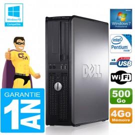 PC DELL 780 DT Intel E5300 Ram 4Go Disque 500 Go Graveur DVD Wifi W7