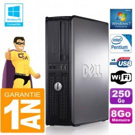 PC DELL 780 DT Intel E5300 Ram 8Go Disque 250 Go Graveur DVD Wifi W7