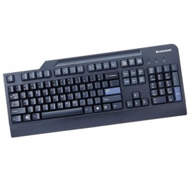 Clavier QWERTY Noir USB Lenovo KB1021 00XH537 PC Keyboard 104 Touches