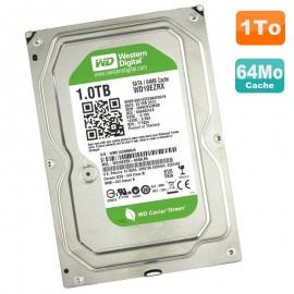 """Disque Dur 1To Western Digital Green 3.5"""" SATA III WD10EZRX-00A8LB0 7200RPM 64Mo"""
