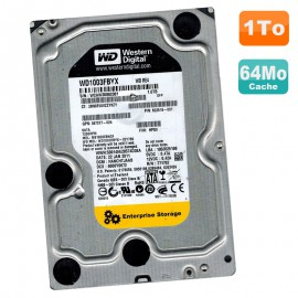 Disque Dur 1To SATA 3.5 WD RE4 Enterprise Storage WD1003FBYX-70Y7B0 7200RPM 64Mo