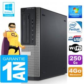 PC DELL 7010 DT Intel G840 Ram 4Go Disque 250 Go Wifi W7