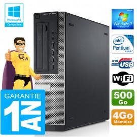PC DELL 7010 DT Intel G840 Ram 4Go Disque 500 Go Wifi W7