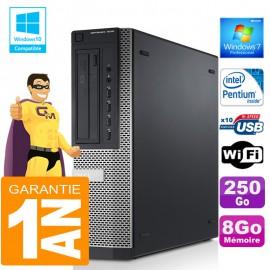 PC DELL 7010 DT Intel G840 Ram 8Go Disque 250 Go Wifi W7