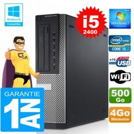 PC DELL 7010 DT Core I5-2400 Ram 4Go Disque 500 Go Wifi W7
