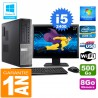 """PC DELL 7010 DT Core I5-2400 Ram 8Go Disque 500 Go Wifi W7 Ecran 22"""""""
