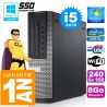 PC DELL 7010 DT Core I5-3470 Ram 8Go Disque 240 Go SSD Wifi W7
