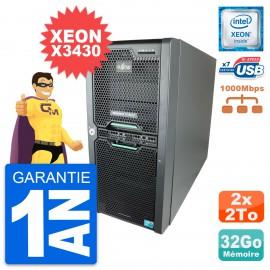 Serveur HP fujitsu primergy tx150 s7 intel Xeon X3430 RAM 32Go 2x 2To