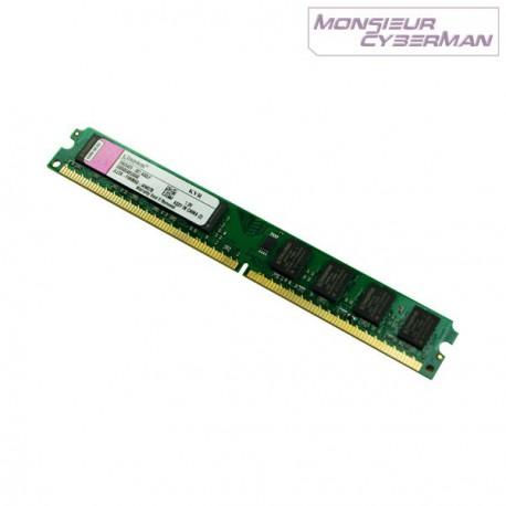 Ram Barrette Mémoire Kingston 1Go DDR2 KVR800D2N6/1G PC2-6400 CL6 NEUF