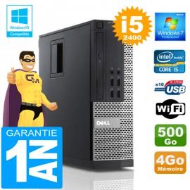 PC DELL 990 SFF Core I5-2400 Ram 4Go Disque 500 Go Wifi W7