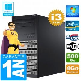 PC Tour DELL 7010 Core I3-2120 Ram 4Go Disque 500 Go Wifi W7