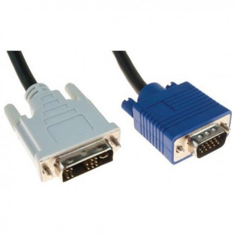 Câble Adaptateur DVI-A Mâle VGA DB-15 Mâle HD15M 150cm Noir Ecran Cordon