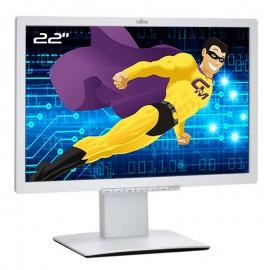 """Ecran PC Pro 22"""" FUJITSU B22W-7 DisplayPort VGA DVI USB VESA Wide LED LCD Blanc"""