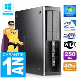 PC HP Compaq 6000 Pro SFF Intel E6300 Ram 4Go Disque 250Go Graveur DVD Wifi W7