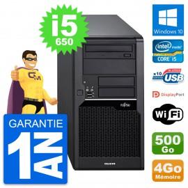 PC Tour Fujitsu Celsius W280 Intel i5-650 RAM 4Go Disque 500Go Windows 10 Wifi