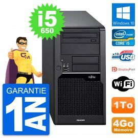 PC Tour Fujitsu Celsius W280 Intel i5-650 RAM 4Go Disque Dur 1To Windows 10 Wifi