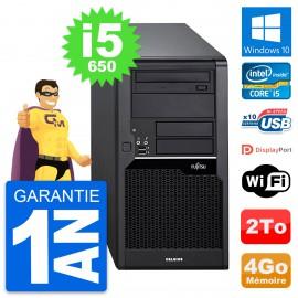 PC Tour Fujitsu Celsius W280 Intel i5-650 RAM 4Go Disque Dur 2To Windows 10 Wifi